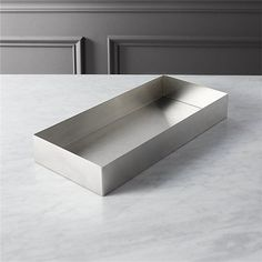 stainless steel tank tray | CB2