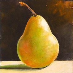 April 3 Pretty Pear Still Life Starting at Only $19.95 NR, painting by artist Toni Grote