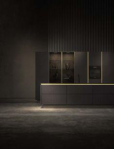 SieMatic Pure - SieMatic keuken zwart bruin kookeiland met LED verlichting, ASWA Keukens