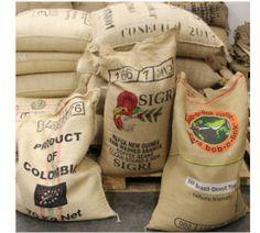 Véritable sac de café original en toile de jute (vide) | MaxiCoffee.com