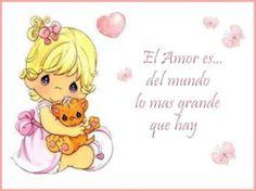 Imágenes Precious Moments de amor   Mi amor... Te amo !