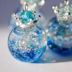 再販4星の香水瓶ペンダント「ciel」受注製作