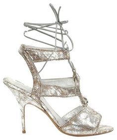 Donna Karan Collection - Leather Silver Sandals $195