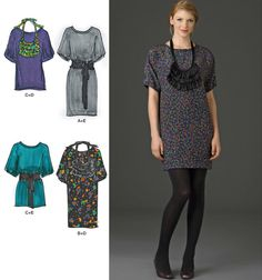 Simplicity Pattern 2472 Cynthia Rowley Misses' Belted Dresses and Tunic Sizes 12-20 NEW. $6.00, via Etsy.