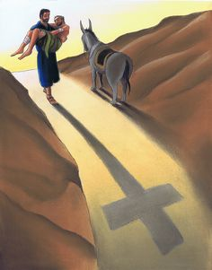 Beautiful illustrations of Bible stories and concepts - The Good Samaritan