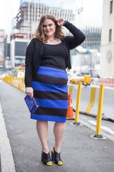 For Every Woman Who Hates Her Stomach #refinery29  http://www.refinery29.com/vbo-plus-size-positivity#slide-1  Baby's first pencil skirt!   Here I am, posing on the outside, squealing on the inside, because there is nothing more nerve-racking than standing on the sidewalk thinking everyone in New York City is starting at your gut. This is a good time to remember that most people in the world are not all that concerned with you, let alone what you wore to work that day.  But, I sure liked…