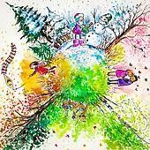 Banque d'Illustrations - quatre saisons k16248599 - Recherche de Cliparts Vecteurisés , de Dessins, d'Illustrations et d'Images au Format EPS - k16248599.jpg