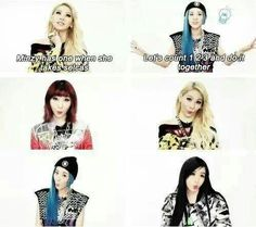 Lol 2NE1's weird habits (or just Minzy's actually)