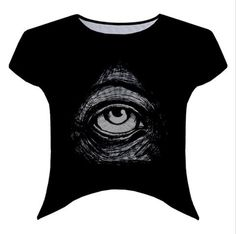 Illuminati Eye crew neck crop top by ThreadsoftheDead on Etsy