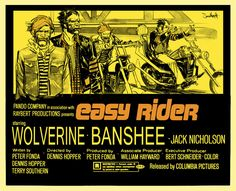 Easy Riders by seangordonmurphy.deviantart.com - with Wolverine and Banshee. Would watch at midnight!