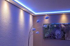 Bild 4 von 12 in 2020 Gypsum Ceiling Design, Ceiling Art, Ceiling Light Design, Home Ceiling, False Ceiling Design, Led Ceiling Lights, Room Lights, Cool Lighting, Strip Lighting