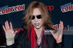 Yoshiki Hayashi attends the 'Yoshiki' panel during the New York Comic Con at the Javitz Center in New York City. �� LAN