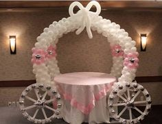 Learn how to make a gorgeous Balloon Carriage for your next party. You won't believe how easy it is. We have a Balloon Arch and Princess Castle too.