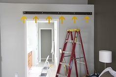 Tutorial on how to make and hang sliding barn doors.