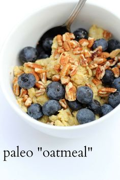 "Paleo ""Oatmeal"" made from egg and banana. Great for when you want to change up breakfast a bit."