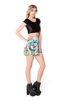 Birds In Paradise Shorties (WW ONLY $50AUD) by Black Milk Clothing