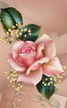 Wallpaper…By Artist Unknown… – Flowers Flowers Art Floral, Beautiful Roses, Beautiful Flowers, Rose Drawing Tattoo, Flower Phone Wallpaper, Illustration Blume, Shabby Chic Crafts, Rose Art, Flower Backgrounds