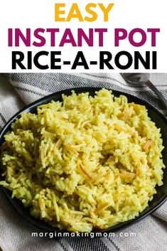 Learn how to make a box of Rice-a-Roni in your Instant Pot or Ninja Foodi! The perfect easy way to enjoy this side dish!