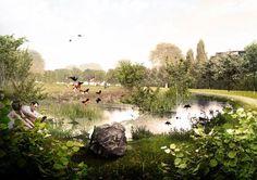 Springfield Park | London, UK | C.F. Møller Landscape #landscapearchitecture…