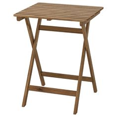 ASKHOLMEN foldable grey-brown stained light brown light brown stained, Table, outdoor - IKEA Outdoor Dining, Outdoor Chairs, Outdoor Furniture, Dining Furniture, Patio Table, Dining Table, Garden Table, Inspiration Ikea, Wood Supply