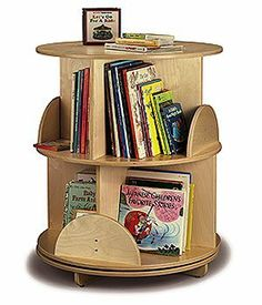 Whitney Bros Carousel Two Level Children Bookcase by Whitney Bros. $276.31. Keep all of your reading center books at just the right height with the Whitney Brothers Two-Shelf Book Carousel. Store and showcase picture books at kids' eye level on this compact display stand. The carousel-style book display spins 360 degrees on the base so it's easy for students to browse. Smooth, rounded corners make it a safe choice for any preschool or daycare. Birch plywood constructi...