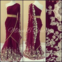 Wine'd Up, sharara kurta by MischB Couture