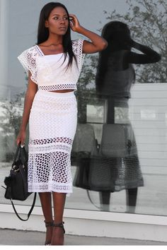 f1fbc00e3daf Discover this look wearing White Crochet Chicwish Tops