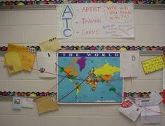 ATC exchange with other schools/countries (Mrs. Knight's Smartest Artists: ATC's)