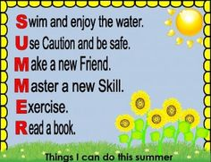 Bulletin board for Late spring or summer