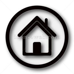 Home simple icon. Home simple button. Royalty free image for your projects. High quality internet button on white background. Black Building, Web Design Icon, Find Icons, Website Icons, Buy Computer, Architecture Background, Simple Icon, Home Icon, Construction Design