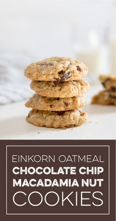 Learn how to make delicious Einkorn Oatmeal Chocolate Chip Coconut Macadamia Cookies straight from the experts at Jovial Foods. Macadamia Nut Recipes, Macadamia Nut Cookies, Chocolate Macadamia Nuts, Coconut Cookies, Oatmeal Chocolate Chip Cookies, Coconut Chocolate, Cookies Gluten Free, Healthy Cookies, Sin Gluten