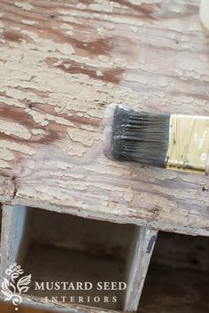 """Use a good coat of MMS Tough coat to sort of """"glue"""" down the edges of that beautiful chippy paint so it stays where it belongs.......d."""