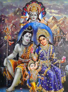 Shiva, Parvati with Baby Ganesha
