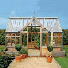 How to make the small greenhouse? There are some tempting seven basic steps to make the small greenhouse to beautify your garden. Diy Greenhouse Plans, Backyard Greenhouse, Small Greenhouse, Greenhouse Wedding, Greenhouse Gardening, Greenhouse Frame, Miniature Greenhouse, Portable Greenhouse, Wooden Greenhouses