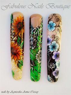 NAIL ART ON TIPS by Agusia - Nail Art Gallery nailartgallery.nailsmag.com by Nails Magazine www.nailsmag.com #nailart