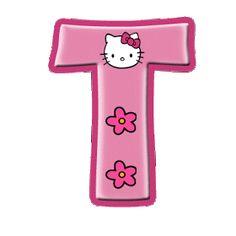 Alfabeto de Hello Kitty con letras grandes.   Oh my Alfabetos! Hello Kitty Pictures, Kitty Images, Pink Hello Kitty, Hello Kitty Items, Hello Kitty Birthday Theme, Anniversaire Hello Kitty, Hello Kitty Imagenes, Free Calendar Template, Diy Birthday Banner