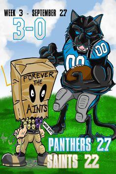 Carolina Panthers defeat New Orleans Saints