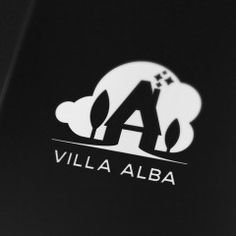 Villa Alba black and white #logo #design | Design delivery portfolio