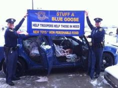 "LANSING, MI - The Michigan State Police is hosting several ""Stuff a Blue Goose"" events this weekend throughout the state to collect new toys and non-perishable food items for families in need."