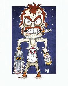 "Neil Hartley on Instagram: ""My version of GTAV's Trevor Phillips . . . #trevorphillips #gta #gta5 #gtav #gtaonline #ps4 #rockstargames #xboxone #rockstarnorth #gtaart…"" Rebel, Copic Art, Gta Online, Rockstar Games, Gta 5, Xbox One, Ps4, Artwork, Fictional Characters"