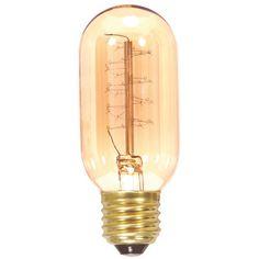 Satco 40w 120v T14 Spiral Antique Carbon Filament Light Bulb
