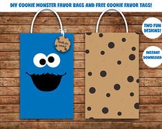 Cookie monster - Cookie Monster Favor Bags / Sesame street Favor bags / gift Bags / Party Bags / loot bags Source by Tigguhh First Birthday Cookies, Monster First Birthday, Monster 1st Birthdays, Monster Birthday Parties, Baby Boy 1st Birthday, First Birthday Parties, First Birthdays, Birthday Ideas, Birthday Photos