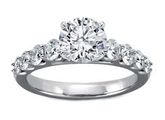 Engagement Ring - Cathedral Engagement Ring Eight Stone Diamond Band 0.75 tcw. In Platinum?? - ES412 from MDC Diamonds.  www.mdcdiamonds.com   Please mention you found them thru Jevel Wedding Planning's Pinterest Account.  Keywords:  #engagementrings #mdcdiamondsengagementrings #bridaljewelry #jevelweddingplanning Follow Us: www.jevelweddingplanning.com  www.facebook.com/jevelweddingplanning/