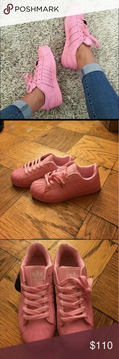 Baby Pink Adidas Never Worn Baby Pink Adidas. They Run Small Adidas Shoes Sneakers