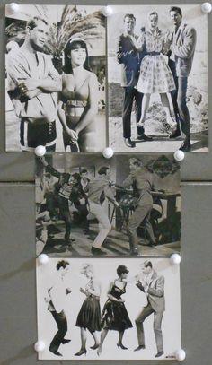 F23365 PALM SPRINGS WEEKEND TROY DONAHUE CONNIE STEVENS 4x7 bw photo Set of 4 | eBay