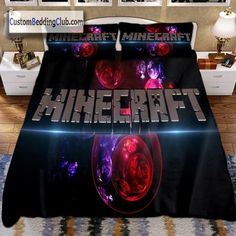 Minecraft Bedding, Bed Sets, Cool Beds, Bedding Sets, Duvet Covers, Pillow Cases, Pillows, Birthday, Bedroom Ideas