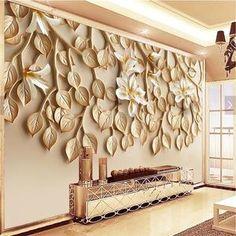 Avikalp Large custom wallpaper Wallpaper Yasushan fragrant resin embossed TV background wall mount