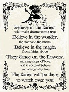 Believe in the Fairies Metal Sign, Vintage Rules of Fairy Magic, Nursery or Childrens Room Decor