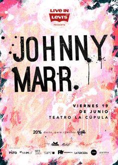Johnny Marr en Ciclo SUENA / 19.Jun Teatro La Cupula fb.me/1mBskJdZj @VirginMobile_cl @ConverseChile