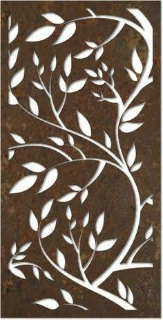 Twining branches stencil